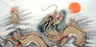 Chinese Dragon Painting,50cm x 100cm,4741003-x