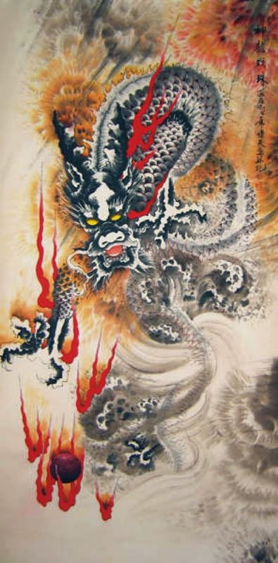 Chinese Dragon Painting 4742009, 50cm x 100cm(19〃 x 39〃)