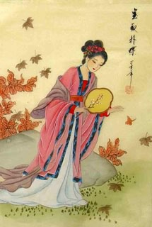 Chinese Dream of the Red Chamber Beauties & Figures Painting,30cm x 40cm,3336031-x