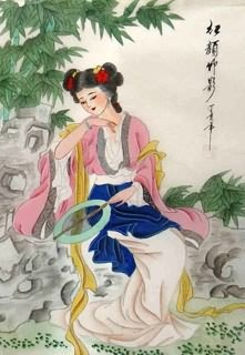 Chinese Dream of the Red Chamber Beauties & Figures Painting,30cm x 40cm,3336034-x