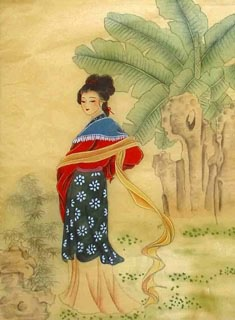 Chinese Dream of the Red Chamber Beauties & Figures Painting,30cm x 40cm,3336039-x