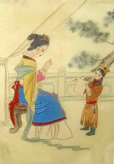 Chinese Dream of the Red Chamber Beauties & Figures Painting,30cm x 40cm,3336040-x