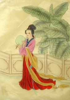Chinese Dream of the Red Chamber Beauties & Figures Painting,30cm x 40cm,3336042-x