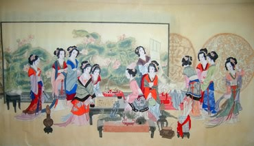 Chinese Dream of the Red Chamber Beauties & Figures Painting,90cm x 175cm,3506010-x