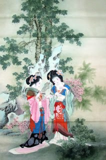 Chinese Dream of the Red Chamber Beauties & Figures Painting,66cm x 136cm,3533018-x