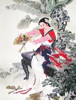 Chinese Dream of the Red Chamber Beauties & Figures Painting,60cm x 80cm,3537005-x