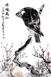 Chinese Eagle Painting,69cm x 46cm,4360005-x