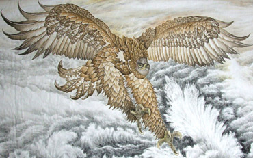 Chinese Eagle Painting,110cm x 175cm,4738014-x