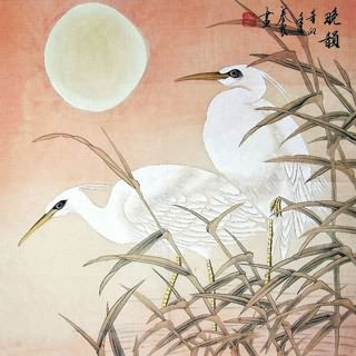 Chinese Egret Painting,69cm x 69cm,2703040-x