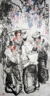 Chinese Ethnic Minority Painting,97cm x 180cm,3447124-x
