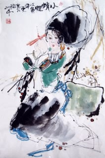Chinese Ethnic Minority Painting,46cm x 69cm,3538004-x