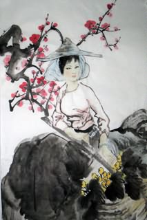 Chinese Ethnic Minority Painting,69cm x 46cm,3812005-x