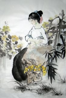 Chinese Ethnic Minority Painting,69cm x 46cm,3812020-x
