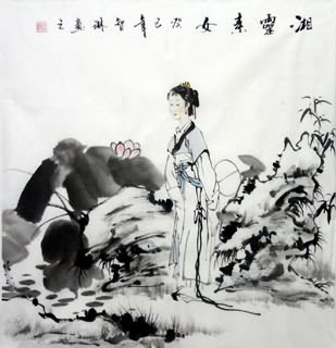 Chinese Ethnic Minority Painting,50cm x 50cm,3813002-x
