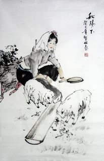 Chinese Ethnic Minority Painting,69cm x 46cm,3813023-x