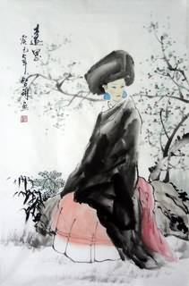 Chinese Ethnic Minority Painting,69cm x 46cm,3813026-x