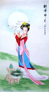 Chinese Famous Four Beauties Painting,65cm x 33cm,3336012-x
