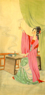 Chinese Famous Four Beauties Painting,40cm x 80cm,3336013-x