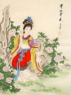 Chinese Famous Four Beauties Painting,40cm x 60cm,3336014-x