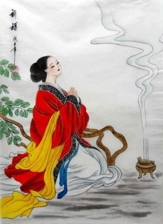 Chinese Famous Four Beauties Painting,30cm x 45cm,3336015-x