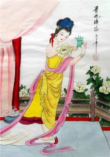 Chinese Famous Four Beauties Painting,30cm x 40cm,3336016-x