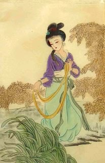 Chinese Famous Four Beauties Painting,28cm x 35cm,3336022-x