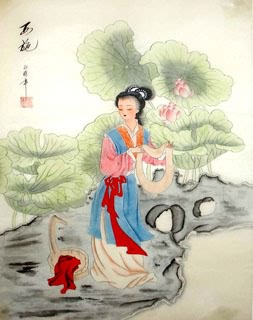 Chinese Famous Four Beauties Painting,45cm x 57cm,3336023-x