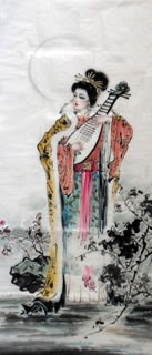 Chinese Famous Four Beauties Painting,56cm x 136cm,3336025-x