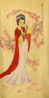 Chinese Famous Four Beauties Painting,40cm x 80cm,3336027-x