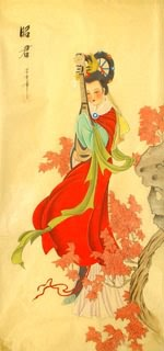 Chinese Famous Four Beauties Painting,40cm x 80cm,3336029-x