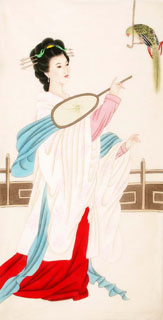 Chinese Famous Four Beauties Painting,66cm x 130cm,3340003-x