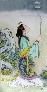 Chinese Famous Four Beauties Painting,34cm x 69cm,3533016-x