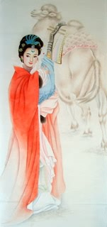 Chinese Famous Four Beauties Painting,50cm x 100cm,3533023-x