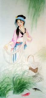 Chinese Famous Four Beauties Painting,50cm x 100cm,3533024-x