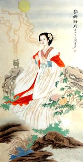 Chinese Famous Four Beauties Painting,60cm x 130cm,3713001-x