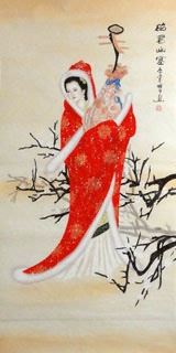 Chinese Famous Four Beauties Painting,66cm x 136cm,3713003-x
