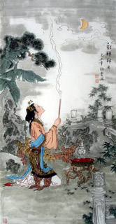 Chinese Famous Four Beauties Painting,69cm x 138cm,3808008-x