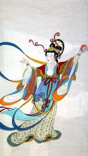 Chinese Flying Apsaras Painting,60cm x 115cm,3773001-x