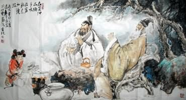Chinese Gao Shi Play Chess Tea Song Painting,97cm x 180cm,3447026-x