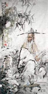 Chinese Gao Shi Play Chess Tea Song Painting,69cm x 138cm,3447096-x