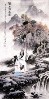 Chinese Gao Shi Play Chess Tea Song Painting,50cm x 100cm,3711029-x