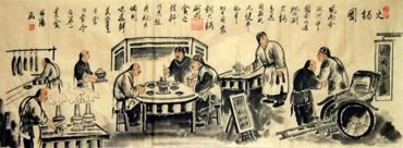 Chinese Genre Painting,50cm x 130cm,3678004-x