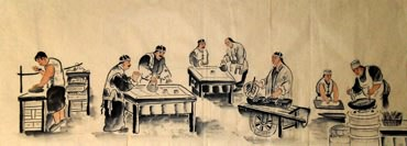 Chinese Genre Painting,50cm x 130cm,3678021-x