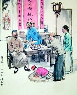 Chinese Genre Painting,69cm x 69cm,3679003-x