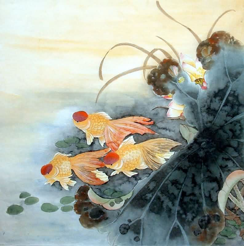 Jiang Yan Mei Paintings, Chinese Fish Painting Artists Biography, Artworks