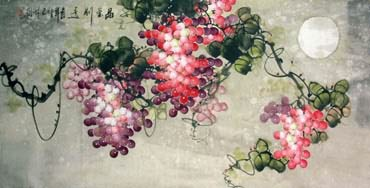 Chinese Grape Painting,66cm x 130cm,2317007-x
