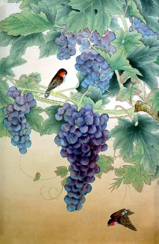Chinese Grape Painting 2319062, 45cm x 65cm(18〃 x 26〃)