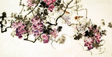 Chinese Grape Painting,66cm x 136cm,2322018-x