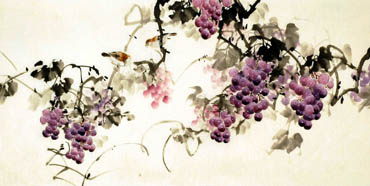 Chinese Grape Painting,66cm x 136cm,2322019-x