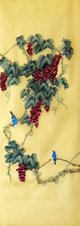 Chinese Grape Painting,42cm x 110cm,2336124-x